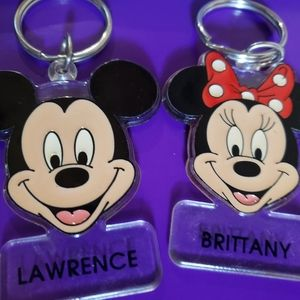 Mikey mouse Lawrence minnie mouse KEYCHAIN
